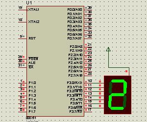 image for Counting from 0 to 9 and displaying values on a 7segment display common anode